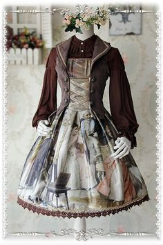 ★★★ What's New: Infanta Painting Printed Vest Jumper Dress >>> http://www.my-lolita-dress.com/infanta-paintings-prints-lolita-jumper-dress-with-vest-design-inf-272
