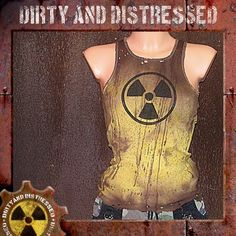 distressed awesome post apocalyptic style bio hazard vest