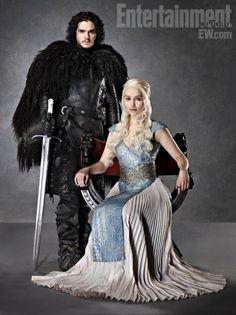 EW Game Of Thrones Season 3 4, Kit Harington - Jon Snow, Amelia Clarke - Daenerys Targaryen / Khaleesi