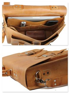 Rustic Distressed Leather Messenger Bag by WhiteBuffaloRepublic
