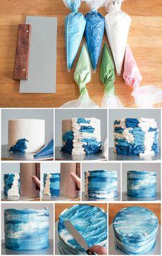 Cake Decorating Designs, Creative Cake Decorating, Cake Decorating Videos, Birthday Cake Decorating, Cake Decorating Techniques, Creative Cakes, Cake Designs, Cake Icing Techniques, Decoration Patisserie