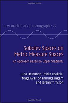 Sobolev spaces on metric measure spaces : an approach based on upper gradients Cambridge : Cambridge University Press, 2015 Novedades Junio 2016