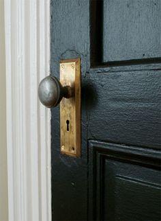 Ordinaire Black Door   Brass Doorknob   Manhattan Nest
