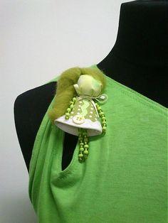 maramanufaktura / brošňa mini MARA /zelená/