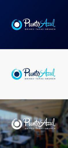 Diseño de logotipo para Punto Azul, un local ubicado en el paseo marítimo de Aguadilla (Puerto Rico) y que ofrece una amplia variedad de tapas, brunch, hamburguesas y todo tipo de bebidas para disfrutar frente al mar.