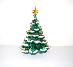 Vintage Christmas Tree with Birds and Light by ChristmasVintage, $54.00