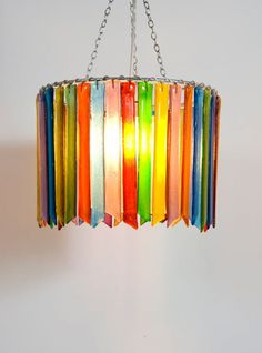 Rainbow Rhapsody double table light - All For Decoration Stained Glass Chandelier, Wire Chandelier, Lampshade Chandelier, Outdoor Chandelier, Chandelier Shades, Glass Pendant Light, Pendant Light Fixtures, Diy Lampshade, Glass Lights