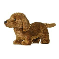 """12"""" Aurora Plush Brown Puppy Dog Dachshund """"Frederick"""" Stuffed Animal Toy 31409 #Aurora"""