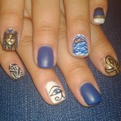 For those of us who realized hieroglyphics just aren't ~sassy~ enough.   Nail Art We Wish We Could Do Ourselves