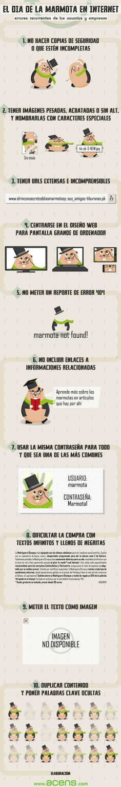Los 10 errores que no puedes cometer en Internet #Infografía