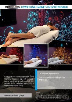 ściana świecąca e-technologia w gabinecie masażu