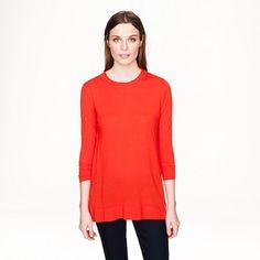 J.Crew - Lightweight merino tunic sweater. super cute layering piece with side slits