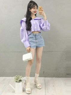 The Best Examples for Korean Street Fashion Korean Girl Fashion, Korean Fashion Trends, Ulzzang Fashion, Korean Street Fashion, Korea Fashion, Asian Fashion, Daily Fashion, Boho Fashion, Fashion Outfits