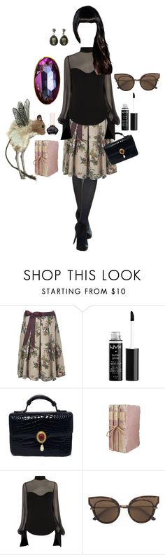 """""""Adult Goth"""" by mooncollector ❤ liked on Polyvore featuring Hobbs, NYX, Judith Leiber, Alexander McQueen, Bottega Veneta and Paul & Joe"""
