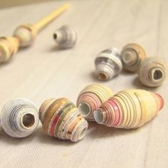 paper beads #beads #paper great site