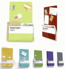 The Pantone Wallstore is a magnetic bulletin board and storage solution in one. The large surface area on top allows good space to store notes, photos, keys and keepsakes etc� while the folded section creates space for magazines, files, mail and letters. The Pantone Wallstore comes with 6 mini magnets. Design by John Green.