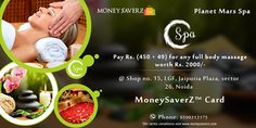 #planetmarsspa #noida deals from #moneysaverz only for our card users