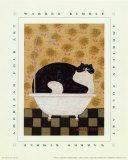 Gatto in vasca da bagno