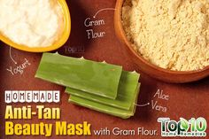 Homemade Anti-Tan Beauty Mask with Gram Flour
