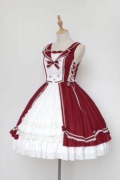 Neverland Lolita -The Heart of Ocean- Sailor Style Lolita Jumper Dress