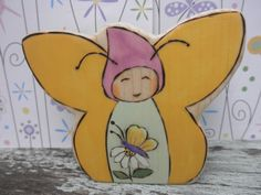 Wood Toy Miss FAIRY BUTTERFLY Waldorf Inspired