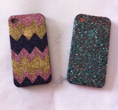 Glittered iPhone cases DIY.