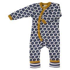 Pigeon Organics, organic baby clothes, organic gifts | Long anchor romper (kimono style)