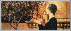 Gustav Klimt (1862-1918), Zwei Mädchen mit Oleander - 1890
