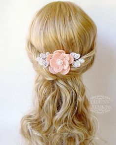 Pedazo de peine del pelo de flor moldeada en por LaurenHCreations