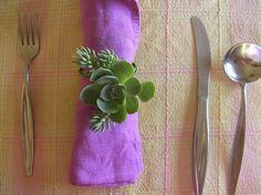 Love this idea! Succulent Napkin Ring succulent party favor by SucculentlyUrban, $30.00 #succulent