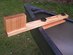 Canoe trolling motor mount - Solid Ash Natural Finish