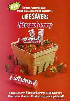 Vintage Life Savers ad from 1978 Retro Candy, Vintage Candy, Vintage Food, Vintage Stuff, Vintage Paper, Vintage Signs, Vintage Images, Vintage Items, Retro Recipes