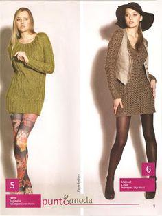 iKnitts: Patron para tejer Dos Sweaters Largos tipo Tweed
