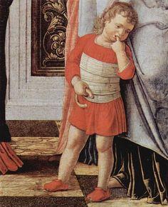 "The ""Circumcision of Jesus"", a Renaissance painting by Andrea Mantegna. Renaissance Kunst, Renaissance Time, Italian Renaissance Art, Renaissance Artists, Renaissance Paintings, Renaissance Clothing, Painting For Kids, Painting & Drawing, Sculpture Romaine"