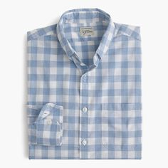 Our Secret Wash shirts are exceptionally soft, thanks to a top-secret multistep wash process that we first launched in 2005. We also used heathered yarns to make this gingham shirt, which means the fabric has cool flecks of color that are created by twisting different threads together. <ul><li>Slim fit, cut more narrowly through the body and sleeves.</li><li>Cotton.</li><li>Button-down collar.</li><li>Chest pocket.</li><li>Machine wash.</li><li>Import.</li></ul>