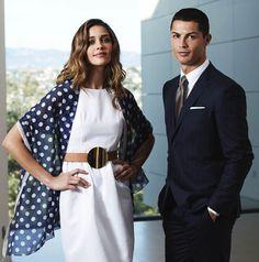 Ana Beatriz Barros com Cristiano Ronaldo para a Sacoor Brothers