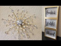 Welcome Back, Today I share with you 2 Quick and Easy Dollar Tree DIY's. Simple, Elegant, and Inexpensive Gold and Silver Wall Decor Ideas for any area of yo. Silver Wall Decor, Silver Walls, Diy Wall Decor, Craft Stick Crafts, Decor Crafts, Diy And Crafts, Handmade Home Decor, Diy Home Decor, Diy Adornos