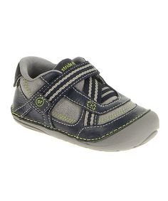 This Navy & Gray Colin Leather Sneaker is perfect! #zulilyfinds