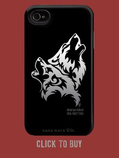Howling Wolf Pair WoB is from arguably the most famous Flame Tribal T Iphone 4, Iphone Cases, Wolf Howling, Future Tattoos, Tribal Tattoos, New Art, Tattoo Artists, Art Pieces, Carrie