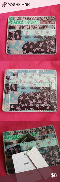 """NWT URBAN OUTFITTERS CARD HOLDER Brand new with tags Cute, small and simple  4""""×~3""""  No flaws, bought straight from the website! Urban Outfitters Accessories Key & Card Holders"""