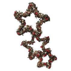 Guirnaldas con forma de estrella de Gisela Graham, acebo en www.achica.es