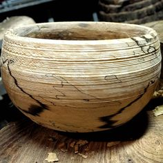 Put some of that spalted birch on the pole lathe. Quite happy with the result. Just hope to spalting hasn't gone too far.  #birch #wood #bowl #woodbowl #woodenbowl #turning #bowlsbythefoot #greenwoodworking #woodworking #traditional #folk #kitchendecor #foodie #farmhousestyle #wooddesign #nature #rustic #MidwestMaker #make #art #craft #craftsmanship #creative #Madison #wisconsin