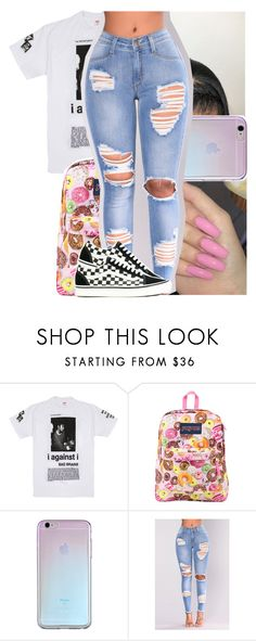 """"" by heeytyy ❤ liked on Polyvore featuring JanSport, NESSA and Vans"