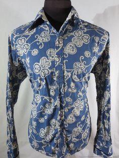 Authentic Jimi Hendrix Experience Purple Label Rock & Roll Religion Men XL Shirt #JimiHendrixExperience #ButtonFront