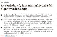 La verdadera (y fascinante) historia del algoritmo de Google / @diarioturing | #futurama #readyforreference