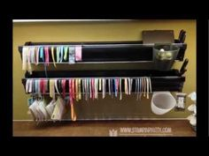 Ribbon & Embossing Powder Storage ideas by Mary Fish, Stampin' Pretty - this is very practical and so neat!!!!!