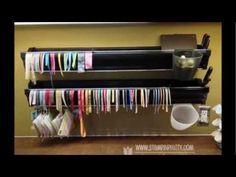 Ribbon & Embossing Powder Storage ideas