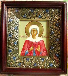 Купить икона святая Наталия никомидийская в киоте со стразами - наташа, Наталия, натали, НАТАЛЬЯ