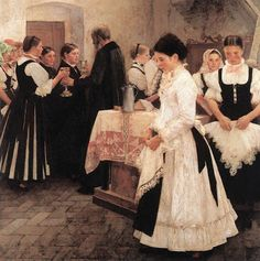 Istvan Csók (Hungarian artist, 1865-1861) Do This in Remembrance of Me 1890