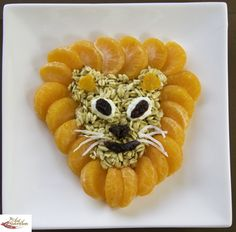 Oaty Lion can you roar your hunger?!!! great kid art food